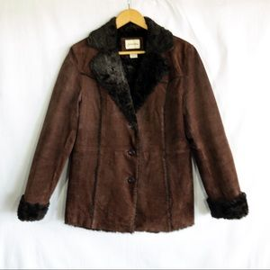 St. John's Bay Soft Genuine Leather Coat - Size M